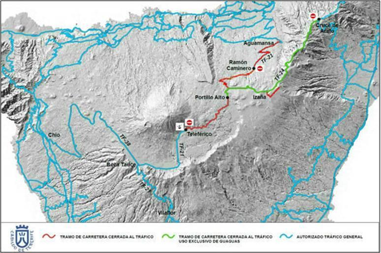 El Cabildo activa el Operativo Nevadas en los accesos al Parque Nacional del Teide