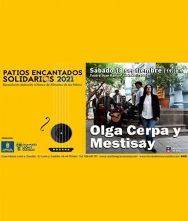 Olga Cerpa y Mestisay protagonistas de la iniciativa 'Patios Encantados Solidarios'