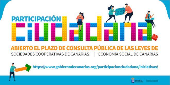 Consulta pública de los anteproyectos de ley de Cooperativas y Economía Social de Canarias