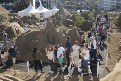 El Belén de Arena de Las Canteras tiene más de 20.000 visitantes en el primer fin de semana