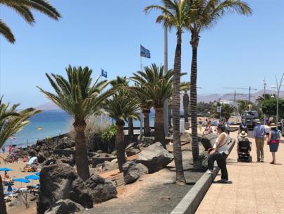 Tías convierte a Puerto del Carmen en la zona turística de Lanzarote con más banderas azules