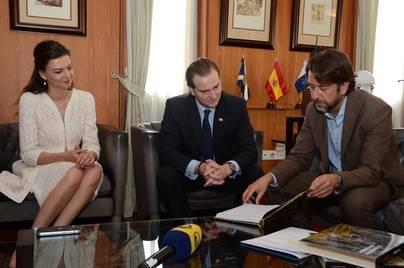 Los príncipes de Georgia visitan Tenerife