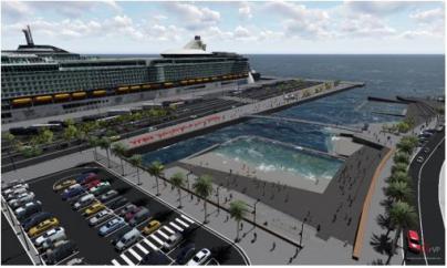 El Puerto de Arrecife conectará el mar con la ciudad a través de piscinas naturales y una pasarela