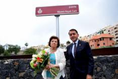 Santa Cruz da el nombre de un puente al matemático y profesor Nácere Hayek