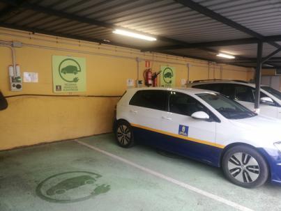 El Cabildo instala una planta fotovoltaica para la recarga de vehículos eléctricos