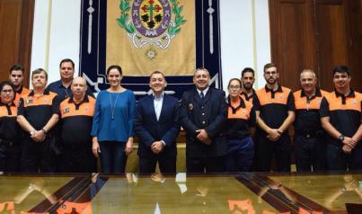 La agrupación de voluntarios de Protección Civil de Santa Cruz, Medalla al Mérito
