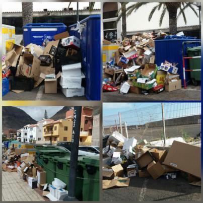 Valle Gran Rey traslada sus quejas al Cabildo por el mal funcionamiento de la recogida selectiva
