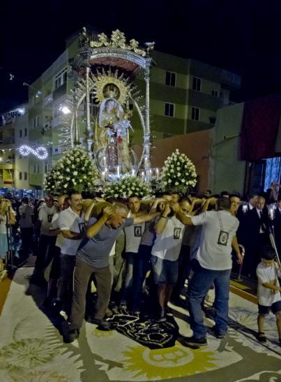 La Virgen del Carmen protagoniza este martes la primera de las cuatro procesiones de esta edición