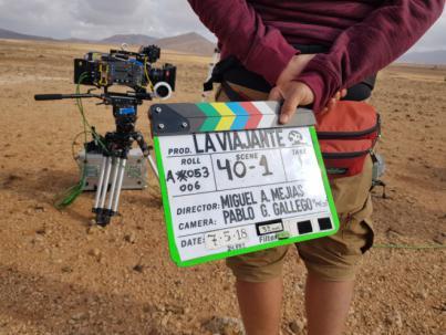 Miguel Ángel Mejías rueda en Fuerteventura parte de su primer largometraje 'La viajante'