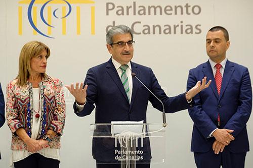 """NC cataloga de """"irreal"""" la gestión presentada por Clavijo en el debate de la nacionalidad"""