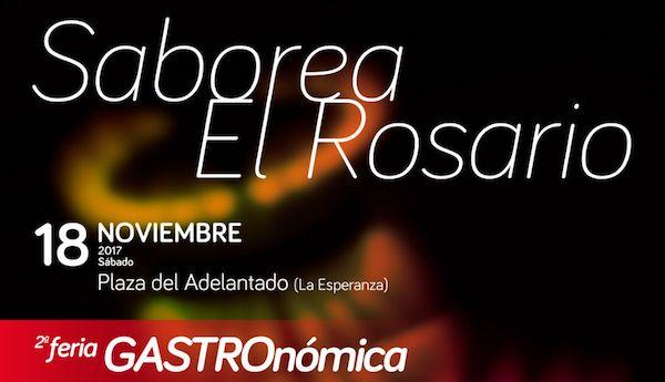 """La feria gastronómica """"Saborea El Rosario 2017' tendrá lugar este sábado"""