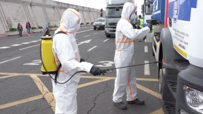 La Gomera activa un sistema de desinfección de los vehículos que llegan por barco a La Gomera