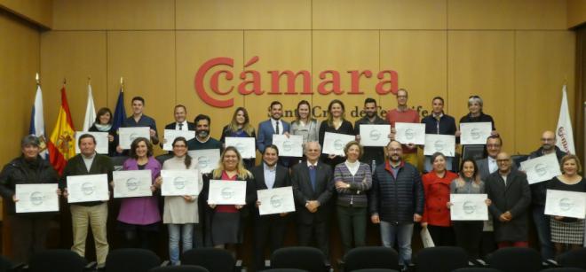 El Cabildo y la Cámara de Comercio conceden el certificado de 'Empresas + Sostenibles' a 18 entidades