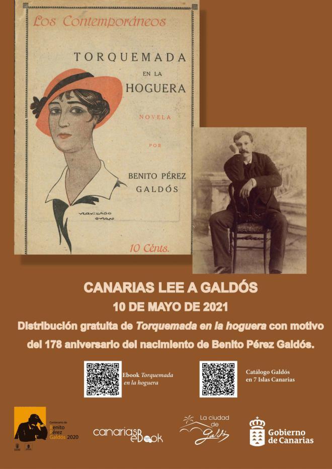 San Sebastián de La Gomera conmemora el aniversario del nacimiento de Benito Pérez Galdós