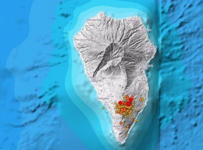 Más de una veintena de terremotos durante la noche en La Palma, uno de magnitud 4,5 sentido en toda la isla