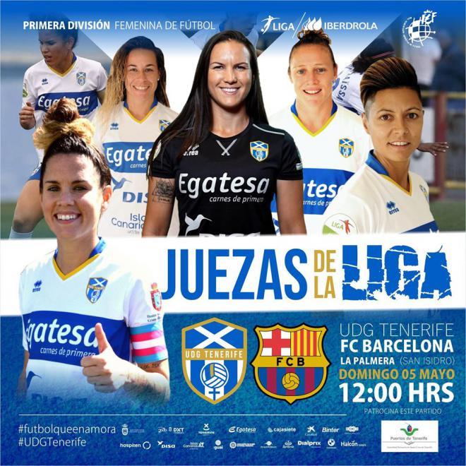 UDG Tenerife juezas de la liga ante el Barcelona