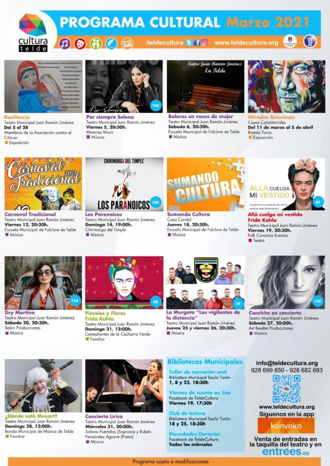La lírica, la música y el teatro, protagonistas de la programación cultural para el mes de marzo