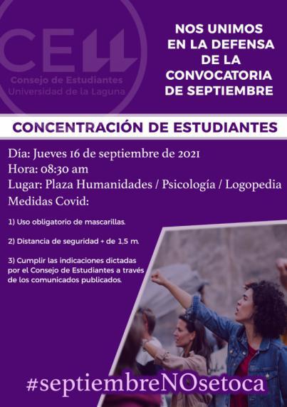 El consejo de Estudiantes de la ULL se manifestará por la defensa de septiembre