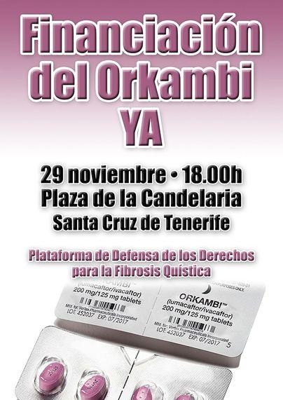 Manifestación en apoyo de los enfermos de Fibrosis Quística