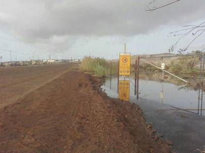 Vertidos incontrolados de aguas fecales en el Polígono Industrial de Granadilla de Abona