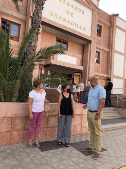 Rosa Dávila y José Domingo Regalado exigen al Gobierno de Canarias un nuevo Palacio de Justicia en el casco de Granadilla de Abona