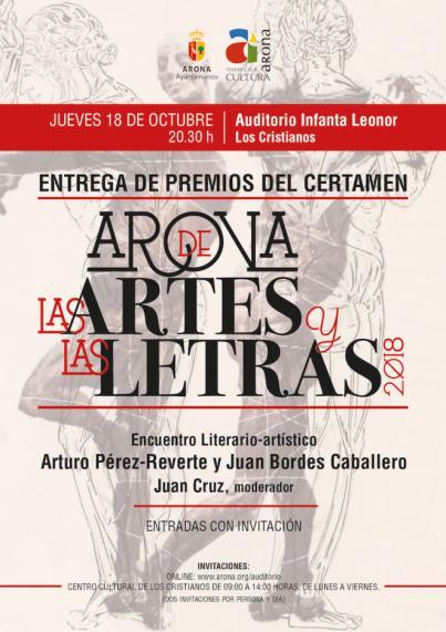 Arona de las Artes y las Letras anuncia los ganadores de los certámenes de relatos, pintura y escultura