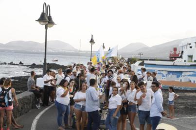 Punta Mujeres se echó a la calle en una de las romerías más participativas