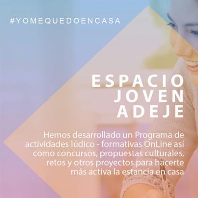 """Adeje activa el proyecto online """"Adeje Espacio Joven #YoMeQuedoEnCasa"""""""