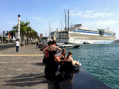 Las Palmas de Gran Canaria espera a media docena de cruceros en el cierre del Puente de diciembre