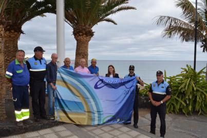 Playa Grande, en Puerto del Carmen, vuelve a ser premiada con la bandera EcoPlaya