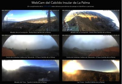 Diez cámaras web que ofrecen vistas panorámicas en directo de La Palma