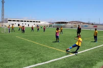 Setenta niños y jóvenes inician en Yaiza el Campus de la UD Las Palmas