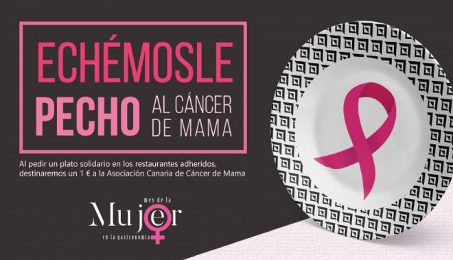 La Asociación Cielo Mar & Tierra, a través del mes de la mujer en la gastronomía, se suma en la lucha contra el cáncer de mama