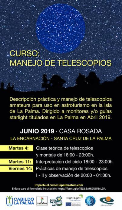 Formación sobre el manejo de telescopios a los guías y monitores Starlight
