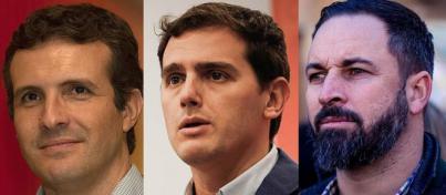 Rivera, Casado y Abascal convocan una gran manifestación el domingo contra Sánchez