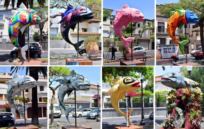 Las esculturas finalistas del certamen 'Chicharritos' adornan la avenida de Anaga