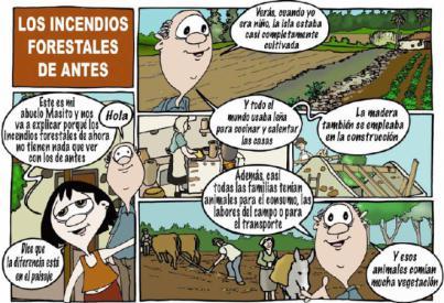 Cómic para luchar contra los incendios forestales en Gran Canaria