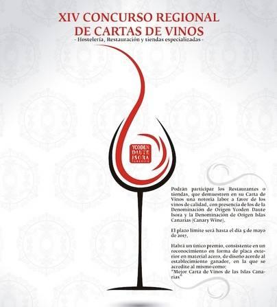 XIV Edición del Concurso Regional de Cartas de Vinos