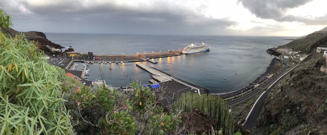 La llegada de cruceristas a El Hierro aumentó un 10% en 2017