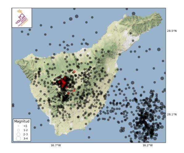 Nuevo enjambre sísmico en Tenerife