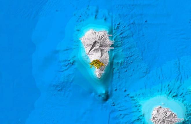 El 'enjambre sísmico' en La Palma registra más de 120 pequeños terremotos