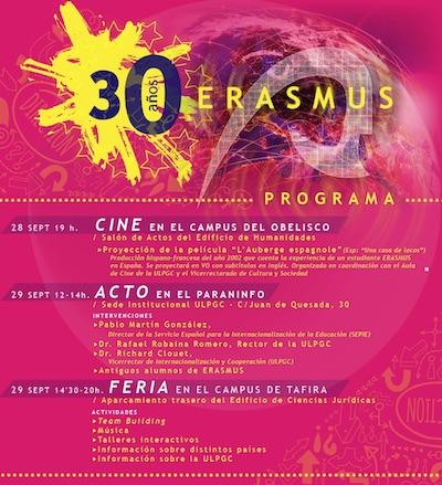 ULPGC celebra el 30 aniversario del programa erasmus