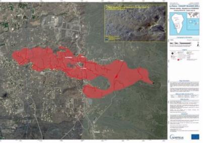 La lava cubre más de 166 hectáreas de la isla de La Palma y destruye 350 edificaciones a su paso