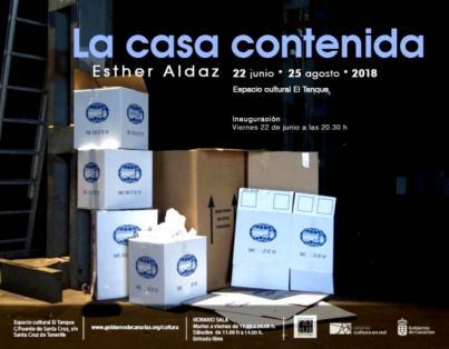 El Espacio Cultural El Tanque se convierte en 'La casa contenida' de Esther Aldaz
