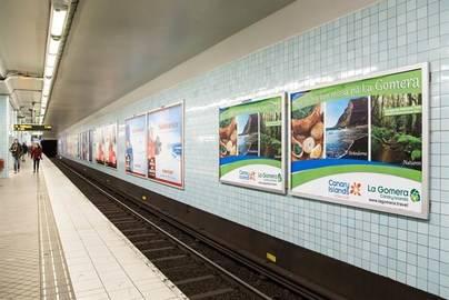 El metro de Estocolmo promociona los paisajes de La Gomera
