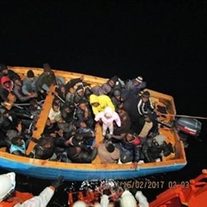 59 personas rescatadas en una patera localizada al sur de Gran Canaria