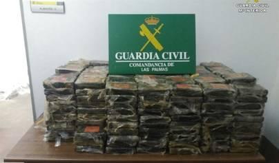 Desmantelada una red de narcotráfico de cocaína en Canarias