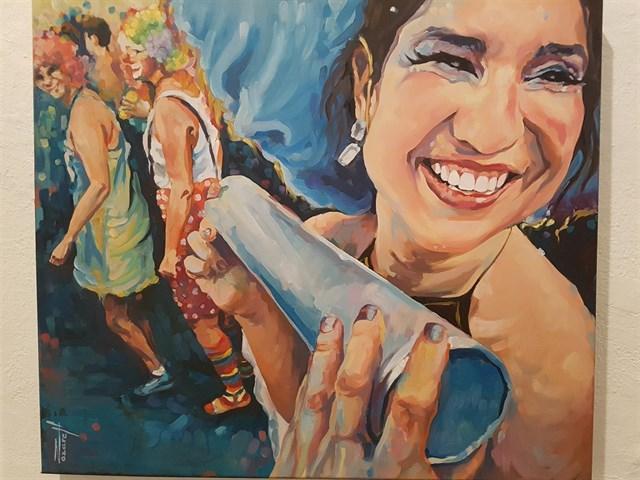 El Centro de Arte La Recova acoge una exposición pictórica sobre el Carnaval de Santa Cruz