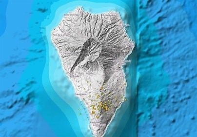 Una intrusión magmática a unos 30 kilómetros de profundidad origina el repunte sísmico en La Palma