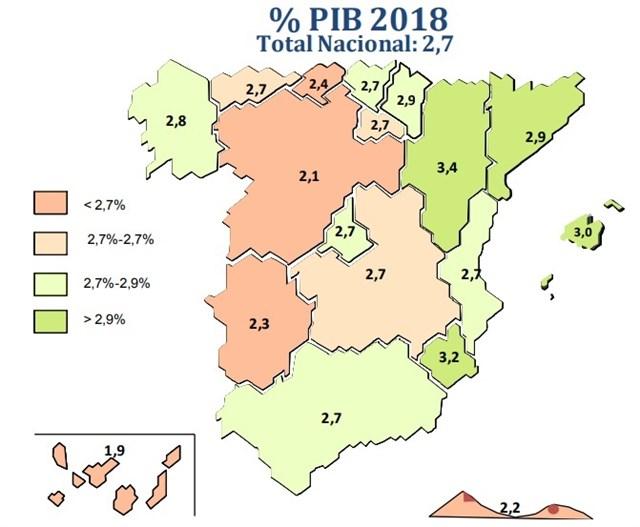 Canarias, comunidad que menos crecerá en 2018, según Ceprede